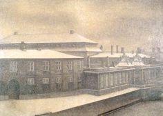 Wilhelm Hammershøi 1909 Fra det gamle Christiansborg, Vinter Solgt hos Christies London i 1987 for 1.223.000 122x170cm