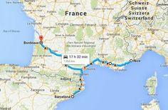 Trem pelo sul da França