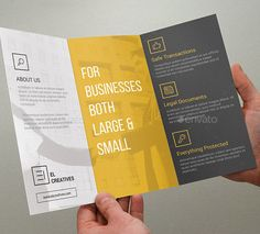 Buy Minimal Corporate Trifold Brochure - 03 by bouncy on GraphicRiver. Tri Fold Brochure – perfect for any industry. Flyer Layout, Brochure Layout, Corporate Brochure, Corporate Design, Brochure Template, Graphic Design Brochure, Brochure Design Inspiration, Tri Fold Brochure Design, Company Brochure Design