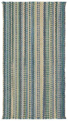 Some like it solid, some like it striped. You can have both with the Hampton collection! Seaglass colorway seen here. #capel #coastlliving #casual #rug