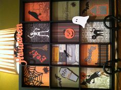 CTMH Halloween craft tray.  Just a note, I attached my inserts with Velcro so that I can change out for the different holidays.