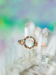 magickal moonstone | Moonstone Dais Ring | NEW DESIGN | 14K rose gold | Bario Neal Jewelry | http://bario-neal.com/jewelry/engagement-rings