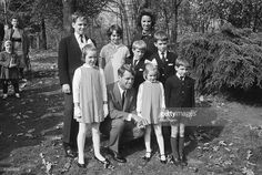 Bronx, New York- New York's U.S. Senator-elect Robert F. Kennedy shows he's quite a family man as he poses with his wife and children during an outing to the Bronx Zoo. In front are, (left to right): Mary, 8; the Senator-elect; Kerry, 5; and Michael, 6. In the middle are, (left to right): David, 9, and Bobby, 11. In back are, (left to right): Joseph, 12; Kathleen, 13; and Mrs. Kennedy. A younger child, the Senator-elect's eighth, was not present. The Kennedys are expecting their ninth child.