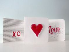 3 ways to carve and cut Valentine stamps