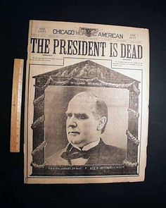 Chicago Morning American, September 14, 1901 - Announcing the death of President William McKinley