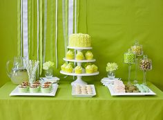Olive-green table