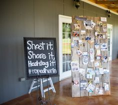Shoot it, share it, hashtag it! wedding sign