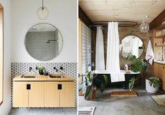 OKRĄGŁE LUSTRO w łazience - inspiracje - Blog wnętrzarski - inspiracje, design, projekty wnętrz ProjektBlou Decor, Furniture, Bathroom Mirror, Home Decor, Mirror, Bathroom