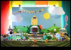 Little Big Empresa | O Blog: Peppa Pig temático da festa de aniversário para seus dois gêmeos adoráveis por Supriya