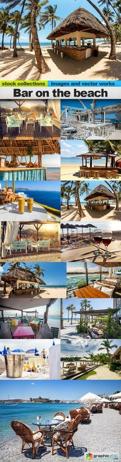 Bar on the beach 15 x UHQ JPEG  stock images