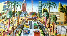 images of naive art | naive art by raphael perez tel aviv israel painter