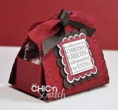 cajita de dulces con etiqueta personalizada