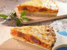 Tomaten-Paprika-Chorizo Quiche