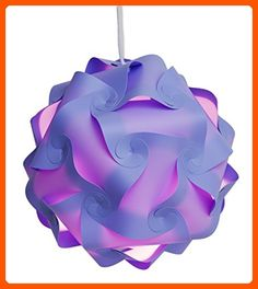 Puzzle Lights with Lamp Cord Kits , Self DIY Assembled Puzzle Lights Mordem Lampshade Iq Lamp Shades M Size (Home Decor Light) (Purple) - Unique lighting lamps (*Amazon Partner-Link)