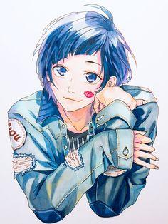 """幸彩 on Twitter: """"1stアルバム勇次郎Ver.ジャケ写です~! 写真撮るの難しいね。うん。  #勇次郎 #染谷勇次郎  #LIPxLIP  #HoneyWorks  #模写 #コピック… """" Happy Tree Friends, Vocaloid, Kawaii Anime, Honey Works, Cute Anime Boy, Manga, Shoujo, Webtoon, Fan Art"""