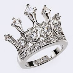 I WANT IT!!!!!      (99+) CZ PRINCESS CROWN RING (Choose Size) from MyFashionVille
