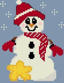 Free snowman cross stitch