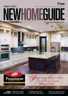 Issue 13 2012 Calgary New Home Guide cover featuring Prominent Homes