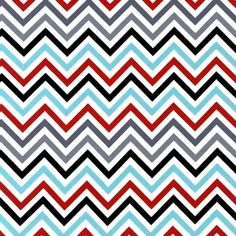 Ann Kelle - Remix - Zig Zag Stripe in Celebration - great for a mama bag or fabric containers.
