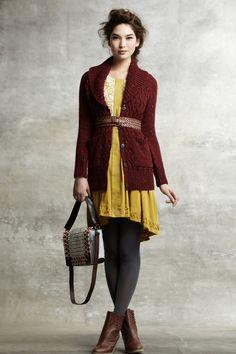 Athena Dress - Anthropologie.com Floral embellishments on hem and petal like texture on torso #FlowerShop