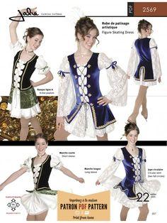 Jalie 2569 Lace-Up Front Skating Dress Pattern