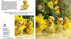 Baby chicks made from seed beads