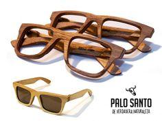 Palo Santo.  Lentes de sol y de lectura, hechos integramente en madera.