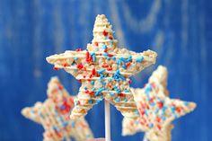 Patriotic Krispy Star Pops