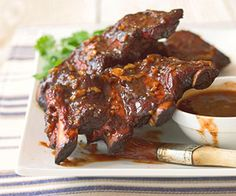 Texas-Style Beef Ribs Smoke cooking turns ordinary beef ribs into a family feast. Green chile peppers, chili powder, and garlic add a punch to the sauce recipe.