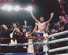 Manny Pacquiao Signed 8x10 Photo Inscribed Pacman