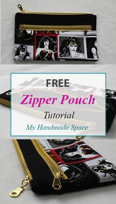 Double Zipper Pouch Tutorial – My Handmade Space – Purses And Handbags Diy Coin Purse Tutorial, Zipper Pouch Tutorial, Tote Tutorial, Tutorial Sewing, Bag Patterns To Sew, Sewing Patterns, Dress Patterns, Sewing Tutorials, Bag Tutorials