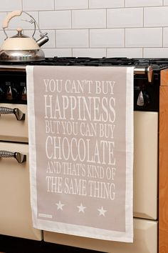 You can't buy happiness but you can buy chocolate and that's kind of the same thing!