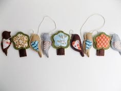 Bird and Tree Garland Wall Hanging by sewwhimsycreations on Etsy