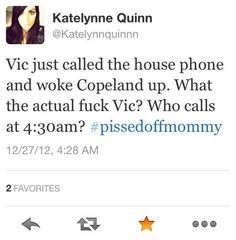 Vic Fuentes you cheeky prick waken up a baby>>> OMG XDDD Best thing I ever did see