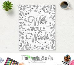 Custom Design Printable Coloring Page Party and Shower Coloring Page Find your inner artist and enjoy coloring pages with your family and friends! This package