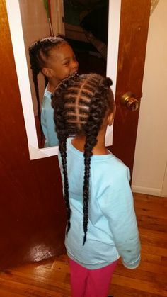 The 'Anna' braids. Braided in extensions for the cornrows
