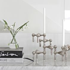 Danish Just Right has re-launched the elegant STOFF candleholder that architect Werner Stoff designed for Hans Nagel in the 1960's. STOFF can be combined into beautiful, sculptural constructions that will catch the eye with and without candles.