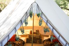 Sand Colored Vintage Style Bell Tent 13 feet by StoutTent