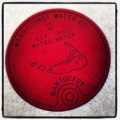 Nantucket Water Meter Doormat by @nolah2odotcom