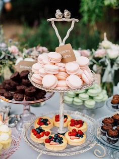 Dessert Buffet Ideas Your dessert bar can be a reception attraction in itself! Stock it with gourmet desserts for a pretty display.Your dessert bar can be a reception attraction in itself! Stock it with gourmet desserts for a pretty display. Mini Desserts, Gourmet Desserts, Creative Desserts, Dessert Recipes, Party Desserts, Delicious Desserts, Party Drinks, Unique Wedding Food, Wedding Buffet Food