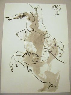 Pablo Picasso Lithograph Toros Y Toreros 1961 First Edition x