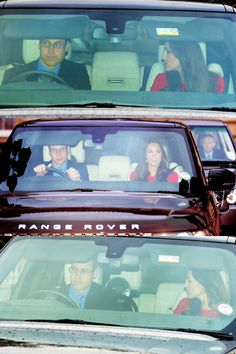 12/18/13 George, Will and Kate attended the Queen's annual pre-Christmas lunch at Buckingham Palace.