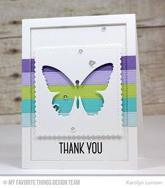 Have you had a chance to check out Sketch Challenge 272 yet? If the card @garkarlon was inspired to create doesn't get you to check it out, what will? Find it at cardchallenges.com! #sketchchallenge #butterfly #thankyou