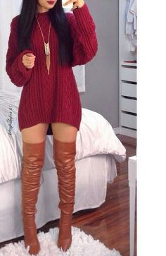 ImageFind images and videos about red lipstick, outfit+ and gold necklaces on We Heart It - the app to get lost in what you love. Cute Casual Outfits, Swag Outfits, Mode Outfits, Stylish Outfits, Night Outfits, Winter Fashion Outfits, Fall Winter Outfits, Look Fashion, Womens Fashion
