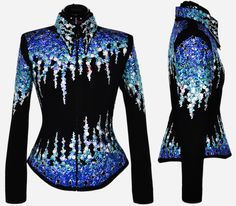 Iced Out Jacket S/M, $2,300.00 by Lisa Nelle Show Clothing. In love with this jacket.  Now I know what I want for my next jacket.  Better start saving now.