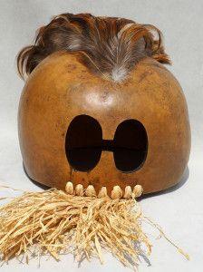 Polynesian war helmet