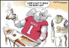 Funny Alabama Football Cartoons | ... people in alabama really do care about auburn and alabama football