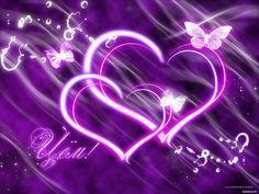 Purple Love, All Things Purple, Shades Of Purple, Pink Purple, Purple Hearts, Purple Stuff, Heart Wallpaper, Butterfly Wallpaper, Love Wallpaper