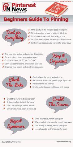 Guía de inicio de Pinterest #infografia #infographic #socialmedia