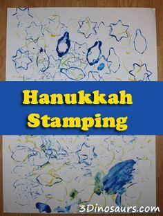 Hanukkah Stamping & My First Chanukah - 3Dinosaurs.com